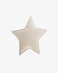 100%  βαμβακερό μαξιλάρι Noor 44 x 30 εκ, μπεζ αστέρι