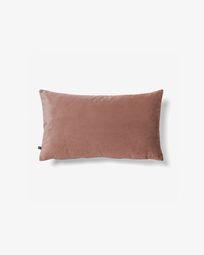 Κάλυμμα μαξιλαριού Lita 30 x 50 εκ, ροζ βελούδο
