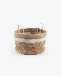 Saht basket natural and white
