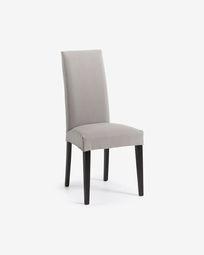 Καρέκλα Freda, Bulova ανοιχτό γκρι και μαύρο