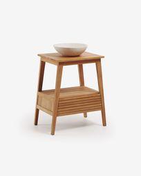 Kuveni solid teak washbasin cabinet 70 x 91 cm