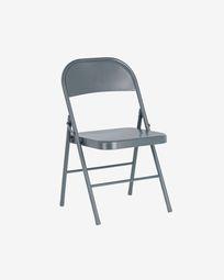 Πτυσσόμενη μεταλλική καρέκλα Aidana, σκούρο γκρι