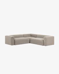 Γωνιακός καναπές 4θ Blok 290 x 290 εκ, μπεζ