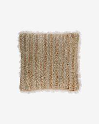 Clidia jute cushion cover with cotton fringe 45 x 45 cm