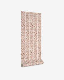 Uriana wallpaper with striped brown print 10 x 0,53 m FSC MIX Credit