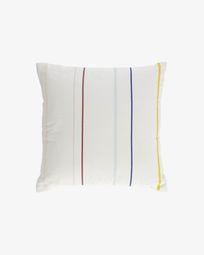 Κάλυμμα μαξιλαριού Nahilin 100% οργανικό βαμβάκι 45 x 45 εκ, χρωματιστές ρίγες