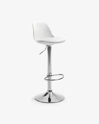 Orlando-T barstool white height 60-82 cm