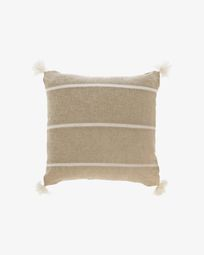 Silene beige stripes cushion cover 45 x 45 cm