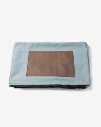 Light blue Kos bed pouf cover