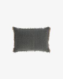 Κάλυμμα μαξιλαριού Camily 30 x 50 εκ, σκούρο γκρι