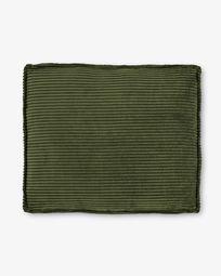 Μαξιλάρι Blok, πράσινο χοντρό κοτλέ, 50 x 60 εκ