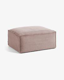 Σκαμπό Blok 90 x 70 εκ, ροζ βελούδο