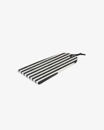 Bergman rectangular chopping board black white marble arch
