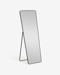 Μεταλλικός καθρέπτης πλήρους μήκους Nyah 63,5 x 165 εκ, μαύρο