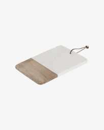 Danelle marble and wood serving board