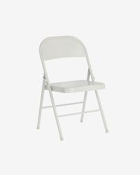 Πτυσσόμενη μεταλλική καρέκλα Aidana, ανοιχτό γκρι
