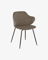 Καρέκλα Suanne, γκρι βελούδο