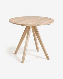 Στρογγυλό τραπέζι Maial, 90 εκ, μασίφ τικ