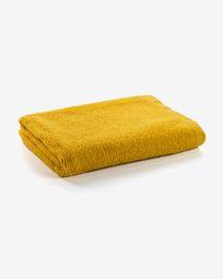 Μεγάλη πετσέτα μπάνιου Miekki, μουσταρδί