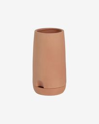 Large Luigina terracotta planter with self-watering system Ø 27 cm
