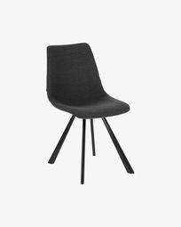 Καρέκλα Alve, σκούρο γκρι
