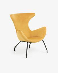 Mustard velvet Chleo armchair