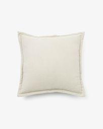 Lisette cushion cover 45 x 45 cm in white