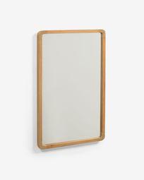 Shamel solid teak mirror 45 x 70 cm