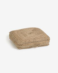 Jute floor-pallet cushion Abir 63 x 63 cm
