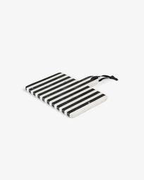 Bergman rectangular chopping board black and white marble