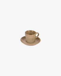 Κούπα καφέ με πιάτο Vreni, μπεζ