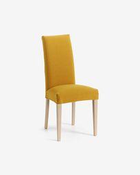Καρέκλα Freda, μουσταρδί και φυσικό