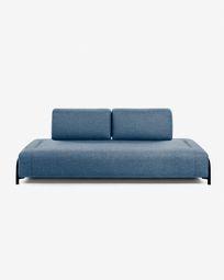 3θ πολυλειτουργικός καναπές Compo 232 εκ, μπλε