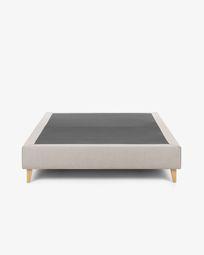 Bed base high Nikos 180 x 200 cm beige