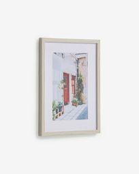 Πίνακας Leyla 30 x 40 εκ, σπίτι με κόκκινη πόρτα
