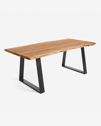 Alaia table made from solid acacia wood with natural finish 220 x 100 cm
