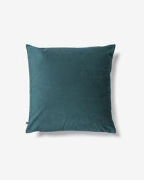 Lita cushion cover 45 x 45 cm turquoise velvet