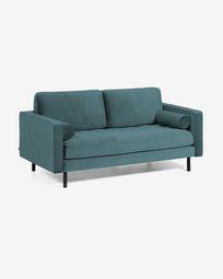Debra 2-seater sofa in turquoise velvet 182 cm