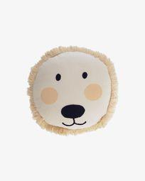 Κάλυμμα μαξιλαριού Λιοντάρι Uriana 100% βαμβάκι (GOTS) Ø 45 εκ, μπεζ