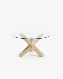 Glass top Lotus coffe table Ø 65 cm