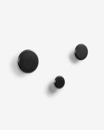 Σετ 3 κρεμάστρες Nadua, μαύρο