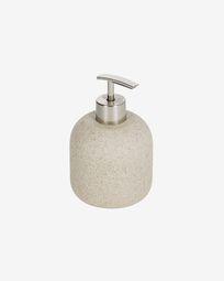 Najilla beige soap dispenser