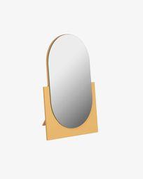 Καθρέπτης Mica 17 x 25 εκ, μουσταρδί