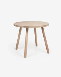 Round Dilcia kids table in solid rubber wood Ø 55 cm