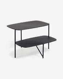 Βοηθητικό τραπέζι Wigan 62 x 58 εκ, μαύρο μέταλλο