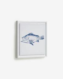 Πίνακας Lavinia 30 x 30 εκ, μπλε ψάρι