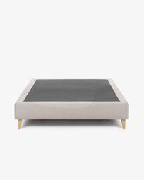 Bed base high Nikos 140 x 190 cm beige