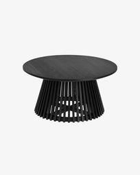 Τραπέζι σαλονιού Jeanette Ø 80 εκ, μαύρο
