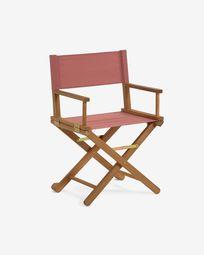 Dalisa solid acacia folding garden chair in terracotta FSC 100%