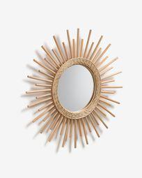 Καθρέπτης Marelli Ø 60 εκ, φυσικό
